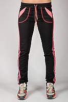 Трикотажные спортивные брюки Стрелки (черные)