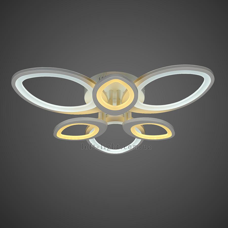 Люстра потолочная светодиодная   55-MX10015-3+3 WH LED