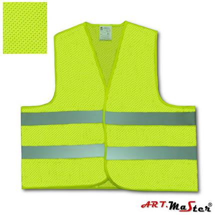 Предупреждающий жилет ARTMAS желтого цвета VEST2mesh kam. żółta, фото 2