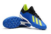 Мужские бутсы сороконожки adidas X Tango 18.3 TF blue