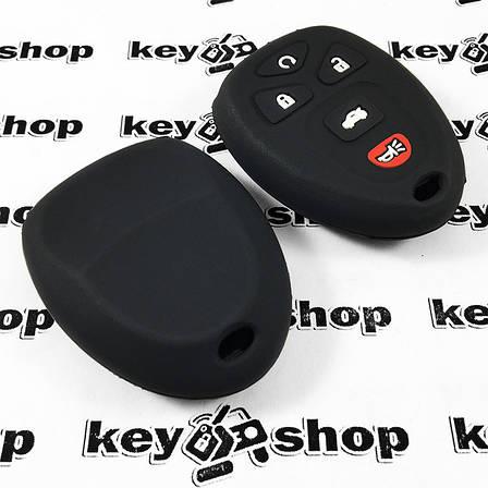 Чехол (силиконовый) для пульта Cadillac (Кадиллак) 4 кнопки +1, фото 2