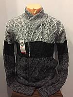 Мужской свитер с шалевым воротником XL