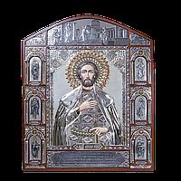 Серебряная Икона благоверного князя Александра Невского