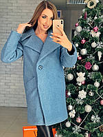 Женское зимнее шерстяное с букле пальто с поясом  от 42 до 52 размера РАЗНЫЕ ЦВЕТА код. Ляля Букле