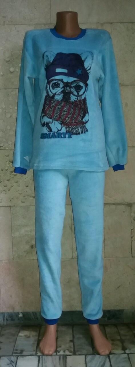 Пижама для девочки подростка с рисунком собаки Smarty 40-46 р, подростковые пижамы оптом от производителя