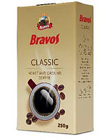 (Брак, пошкоджена упаковка, заклеєли скотчемь ). Кава мелена Bravos Classic 250g