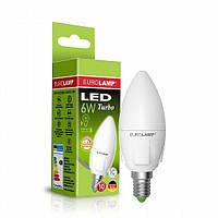 EUROLAMP LED Лампа CL 6W E14 4000K (100)