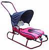 Дитячі санки коляска з регульованою ручкою, конвертом і дашком для дітей