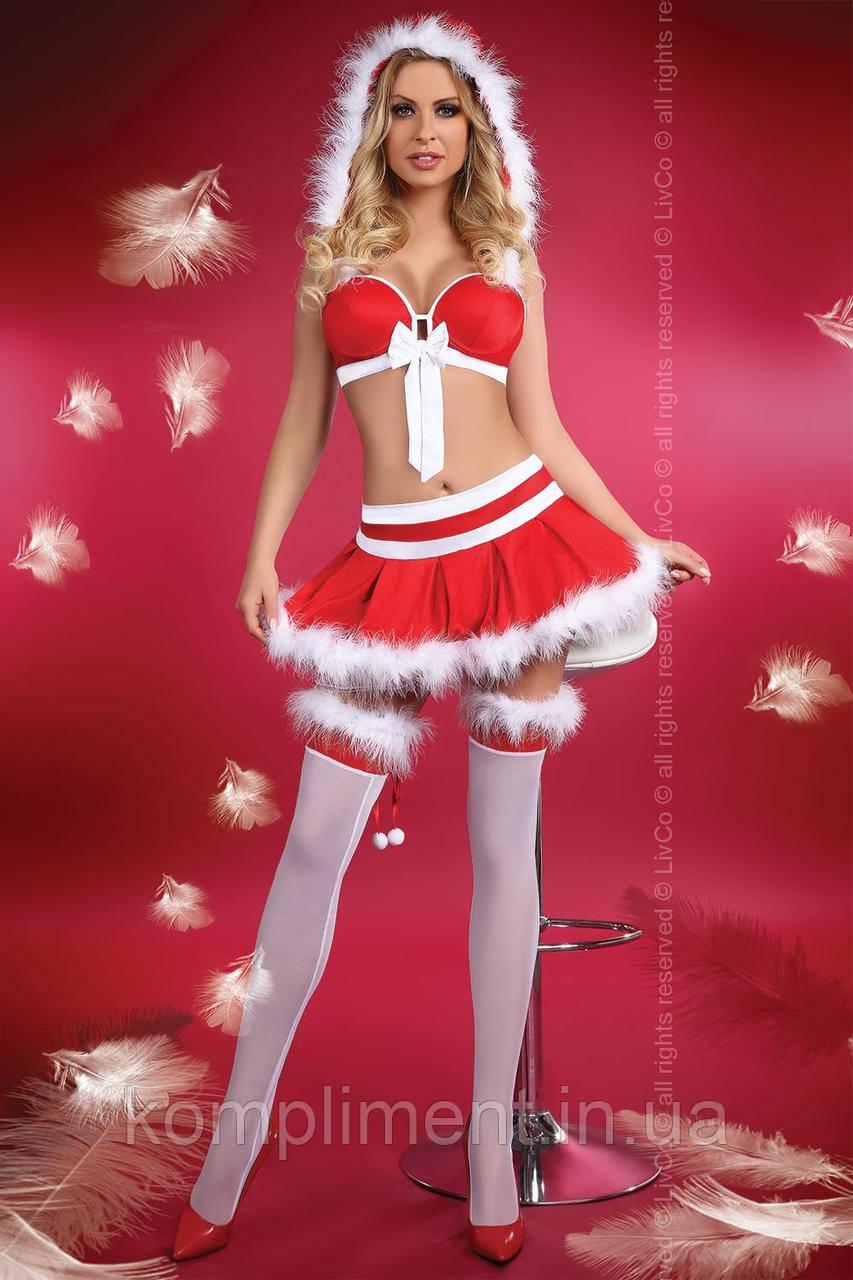 Сексуальний новорічний костюм LITTLE MISS CHRISTMAS
