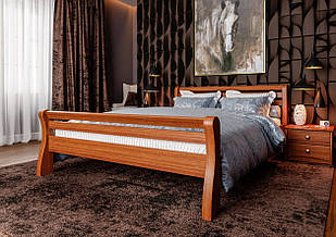 Ліжко односпальне з натурального дерева в спальню/дитячу 90х200 Ретро ДОК