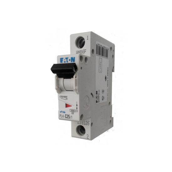 Автоматичний вимикач PL6-C63/1 1р 63А х-ка C, 6кА Eaton, 6037