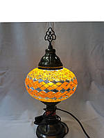 Настольный турецкий светильник Sinan из мозаики ручной работы оранжевый, фото 1