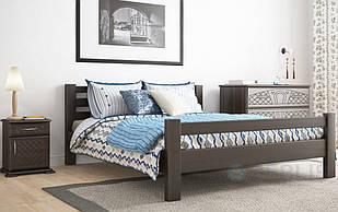 Ліжко односпальне з натурального дерева в спальню/дитячу  90х200 Елегант ДОК