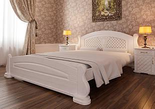 Ліжко односпальне з натурального дерева в спальню/дитячу Женева (Вільха) 90х200 ДОК