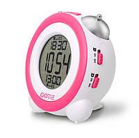 Электронный будильник GOTIE GBE-200R (розовый)