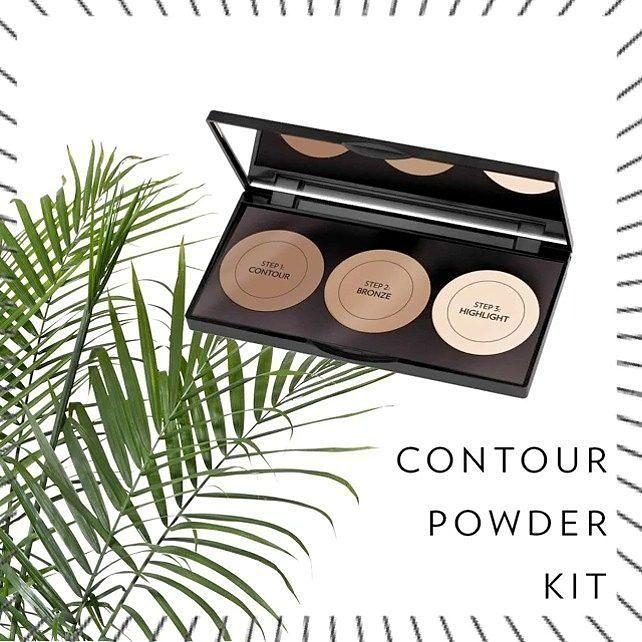 Бронзатор и Хайлайтер Golden Rose Contour Powder Kit 3 in 1 (пудра-контур)
