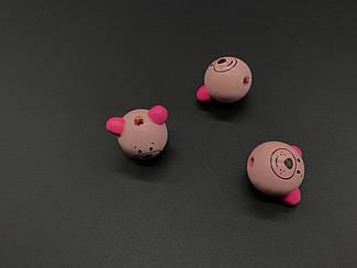 Деревянные заготовки. Мишка. Цвет розовый. 25мм