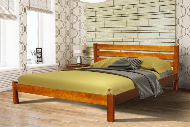 Кровать двуспальная Инсайд (орех)