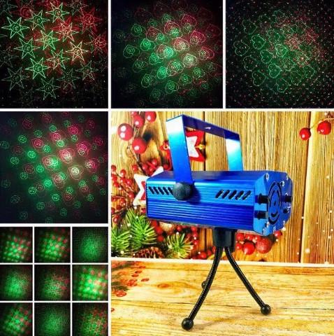 Стробоскоп Лазерный проектор Laser 6 in 1