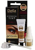 Гель-фарба для брів Delia - PRO COLOR – 1.0 - чорна