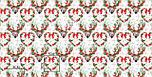 """Отрез новогодней ткани """"Олени с зелёными ветками на рогах"""" на белом, № 1593а, размер 53*160, фото 7"""
