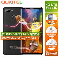 """Телефон OUKITEL C11 Pro 3/16 GB / 5.45"""" (1440x720) / MT6739 / 8Мп / 3400мАч +чехол"""
