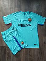 Футбольная форма Барселона сезон 2017-2018 запасная бирюзовая (XL)   Распродажа