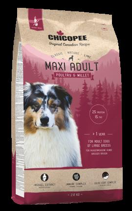 Сухой корм Chicopee CNL Maxi Adult Poultry&Millet 15кг