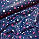 Ткань польская хлопковая, звездопад малиново-розовый на синем, фото 4
