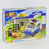 Конструктор JDLT 5131 (24) Полицейский участок, звук, свет, 28 дет, в кор-ке