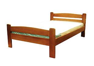 Односпальне ліжко в спальню, дитячу з натурального дерева Каспер Дрімка