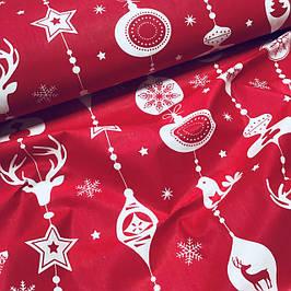 Новогодние ткани хлопковые Польша (шир. 1,6 м)