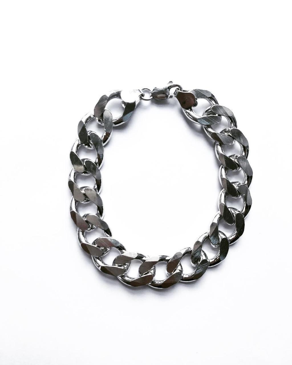 Мужской браслет из серебра Beauty Bar  23 см панцирное плетение 42,83 грамма
