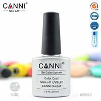 Гель-лак CANNI № 008 ( серебристый металлик )