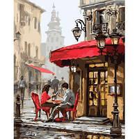 """Картина по номера Городской пейзаж """"Свидание в кафе"""" KHO2144"""