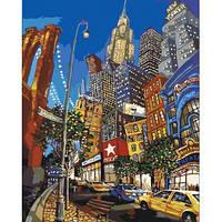 """Картина по номерам Городской пейзаж """"По улицам Нью-Йорка"""" KHO2172"""