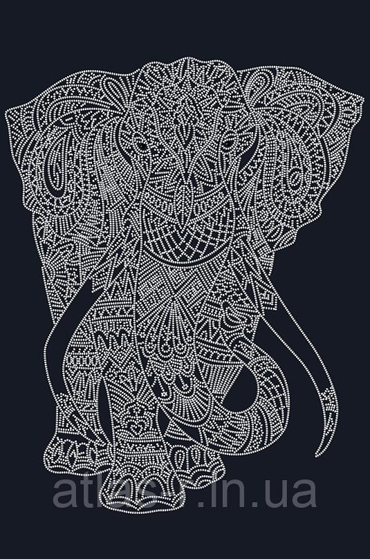 """Схема для вышивки бисером  """"Слон (на чёрном) (Серия """"Элит"""")"""""""