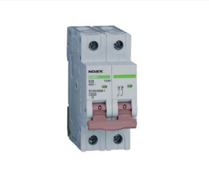 Автоматический выключатель Noark 10кА, х-ка D, 2А, 2P, Ex9BH 100481, фото 2