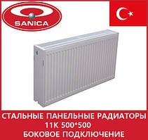 Стальные панельные радиаторы 11 К 500*500 боковое подключение