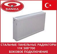 Стальные панельные радиаторы 11 К 500*700 боковое подключение