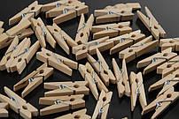 Мини прищепки для декора деревянные не крашенные 3 см (100 штук)