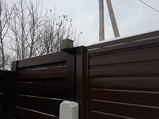 Установка автоматики для распашных ворот Faac 414 в Харькове, Малая Даниловка.