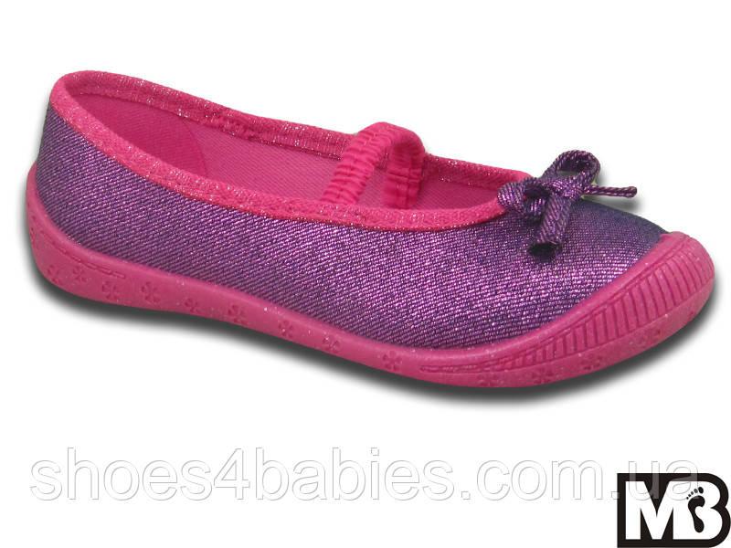 Детские текстильные туфельки для девочек р. 33 - 21см стелька, ТМ 3F Польша