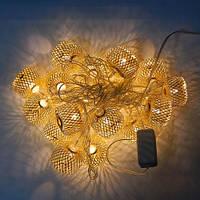 Гирлянда Колесо фортуны сетка Золото LED 20