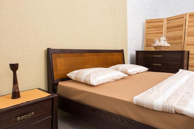 Кровать двуспальная Сити с изножьем (интарсия) изголовье