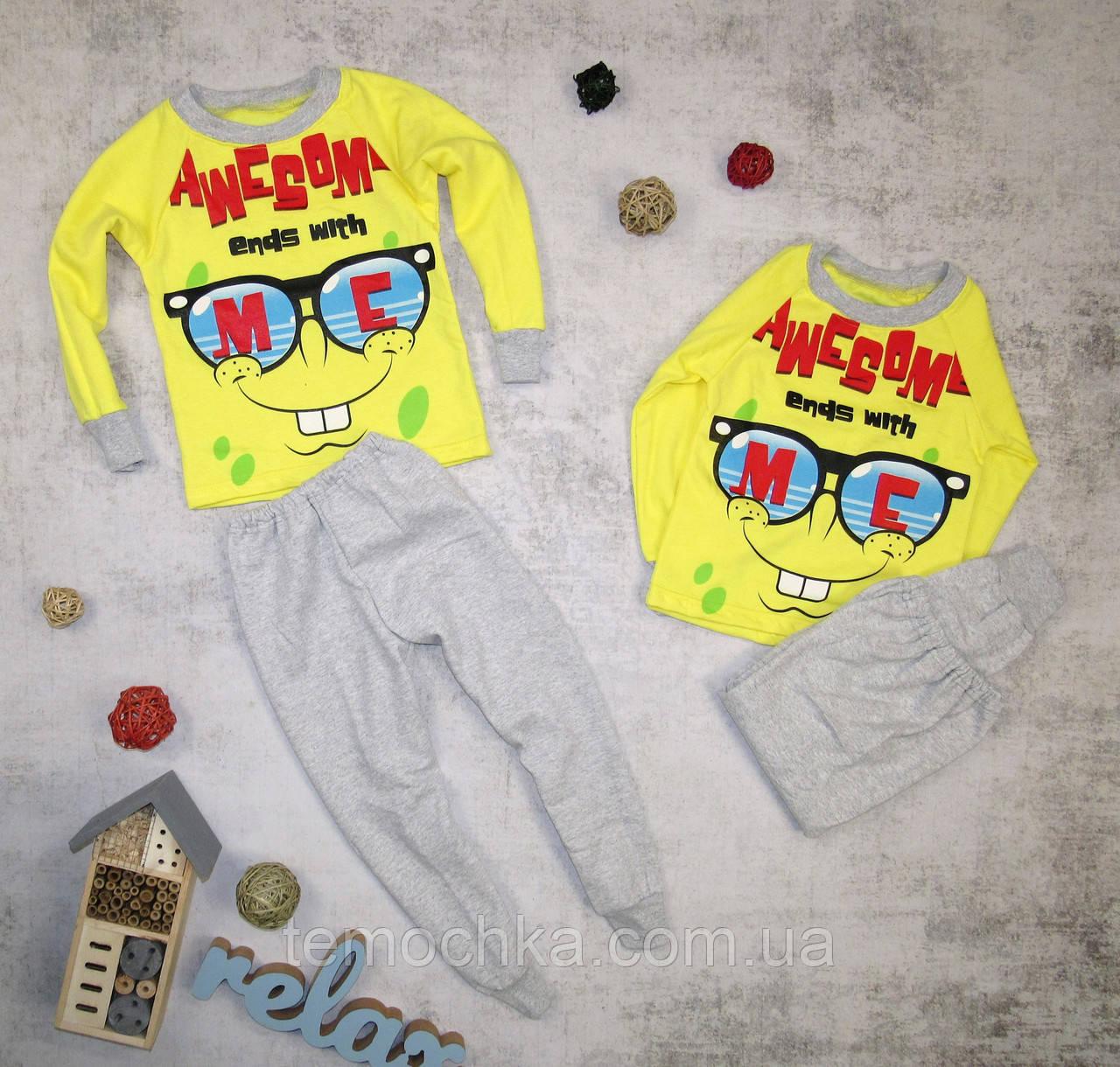 Пижама для дома и сна детская для детей Губка Боб Спанч Боб Sponge Bob