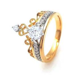 Позолоченные кольца Xuping, классические модели