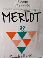 Вино столовое французское Merlot Pays d`Oc