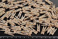 Мини прищепки для декора деревянные не крашенные 2.5 см (100 штук)