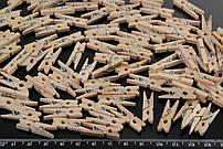 Міні прищіпки для декору дерев'яні не фарбовані 2.5 см (100 штук)